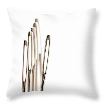 Out Of Line Throw Pillow by Anne Gilbert