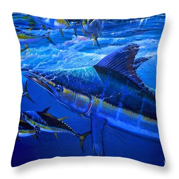 Out Of The Blue Throw Pillow by Carey Chen