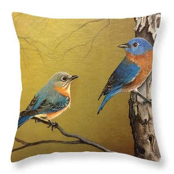 Out To Lunch Throw Pillow by Laura Parrish
