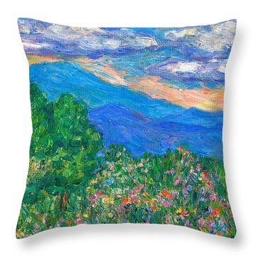 Over The Edge Throw Pillow by Kendall Kessler