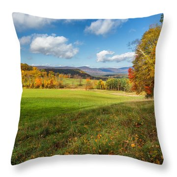 Over The Hills Square Throw Pillow by Bill Wakeley