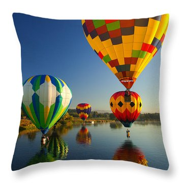 Over The Water Throw Pillow by Mike  Dawson