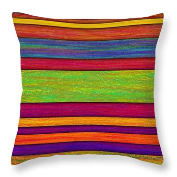 Overlay Stripes Throw Pillow by David K Small