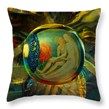 Ovule Of Eden  Throw Pillow by Robin Moline