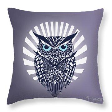 Owl Throw Pillow by Mark Ashkenazi