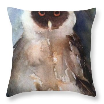 Owl Throw Pillow by Sherry Harradence