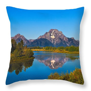 Oxbow Bend II Throw Pillow by Robert Bales
