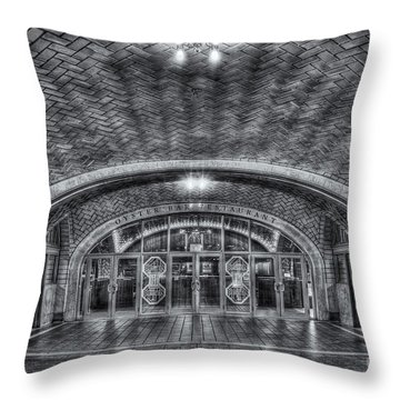 Oyster Bar Restaurant II Throw Pillow by Clarence Holmes