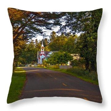 Oysterville Church Framed Throw Pillow by Robert Bales