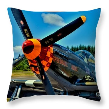 P-51 Mustang Throw Pillow by David Patterson