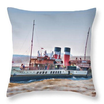 Paddle Steamer Waverley Throw Pillow by Steve Purnell