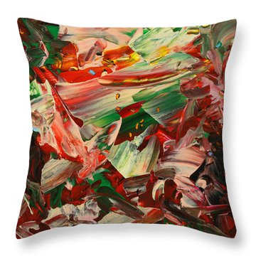 Paint Number 48 Throw Pillow by James W Johnson