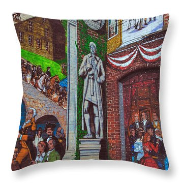 Painted History 1 Throw Pillow by Joann Vitali