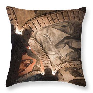 Painted Vaults Throw Pillow by Lynn Palmer