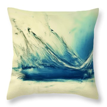 Painting Of Fresh Water Splash Throw Pillow by Michal Bednarek