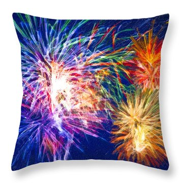 Painting With Light Throw Pillow by Mark E Tisdale