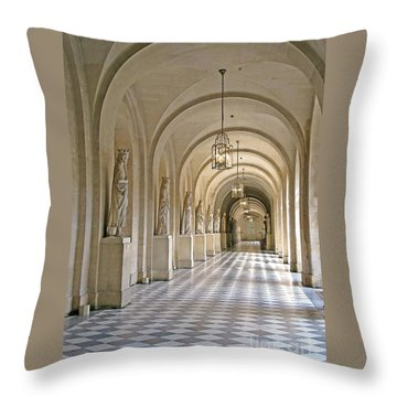 Palace Corridor Throw Pillow by Ann Horn