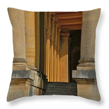 Palace Step Throw Pillow by Joseph Yarbrough