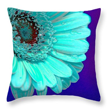 Pale Blue Throw Pillow by Carol Lynch