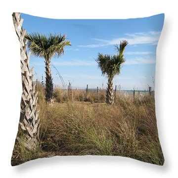 Palm Trees Throw Pillow by Sarah Manspile