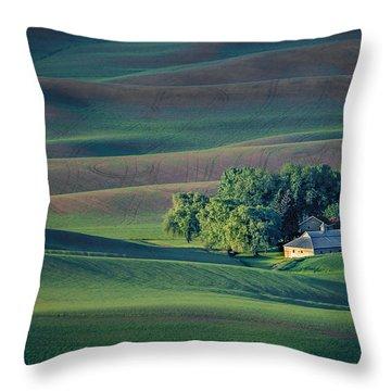 Palouse - Washington - Farms - #3 Throw Pillow by Nikolyn McDonald