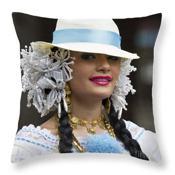 Panama Beauty Throw Pillow by Heiko Koehrer-Wagner