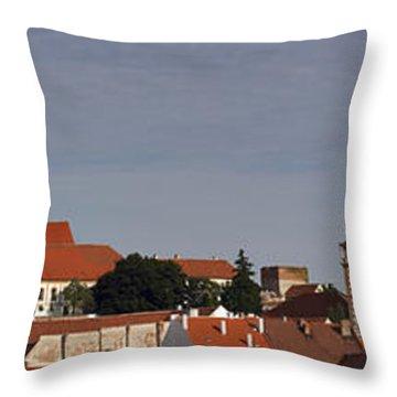 panorama - Mikulov castle Throw Pillow by Michal Boubin