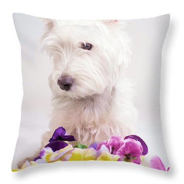 Pansies Throw Pillow by Edward Fielding