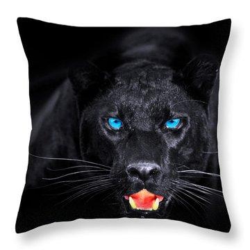 Panther Throw Pillow by Jean raphael Fischer