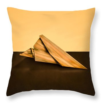 Paper Airplanes Of Wood 2 Throw Pillow by Yo Pedro