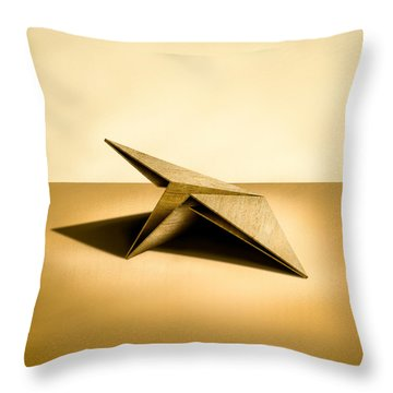 Paper Airplanes Of Wood 7 Throw Pillow by YoPedro