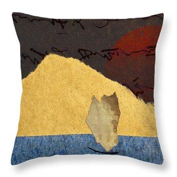 Paper Sail Throw Pillow by Carol Leigh