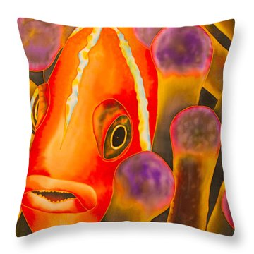 Paradise Clownfish Throw Pillow by Daniel Jean-Baptiste