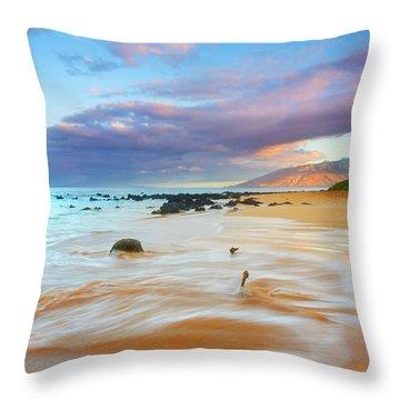 Paradise Dawn Throw Pillow by Mike  Dawson