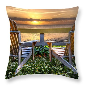 Paradise Throw Pillow by Debra and Dave Vanderlaan
