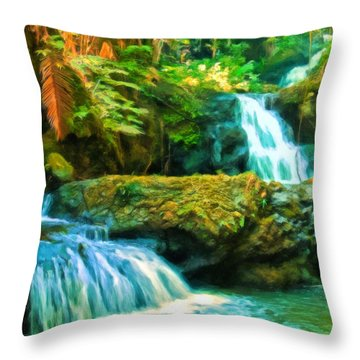 Paradise Found Throw Pillow by Michael Pickett
