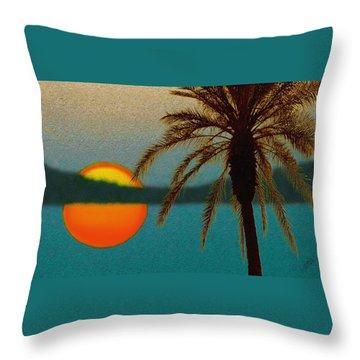 Paradise Sun Throw Pillow by Ben and Raisa Gertsberg