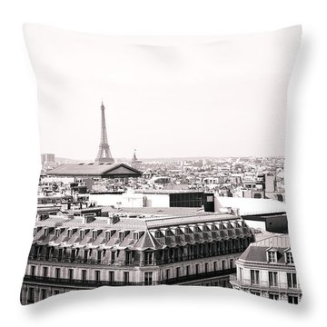 Paris In The Afternoon Throw Pillow by Vivienne Gucwa