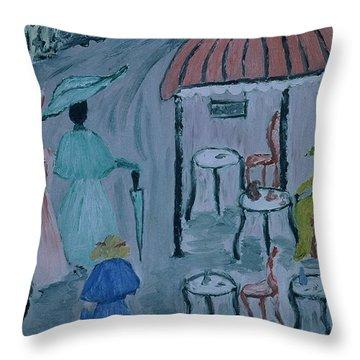 Paris Throw Pillow by Inge Lewis