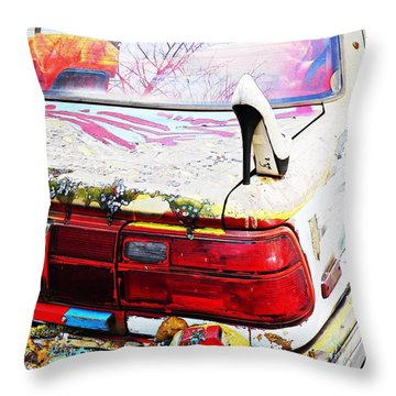 Parked On A New York Street Throw Pillow by Sarah Loft