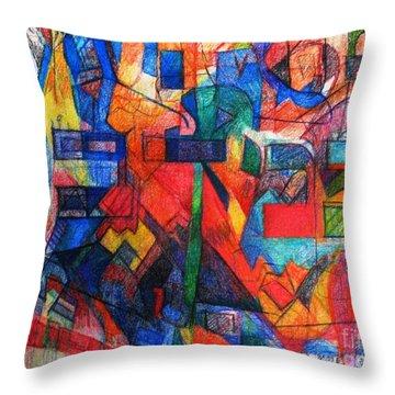 Parshat Bamidbar Throw Pillow by David Baruch Wolk