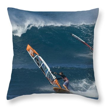 Partners In The Extreme Throw Pillow by Bob Christopher