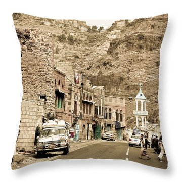 Passing Through A Village Throw Pillow by Charuhas Images