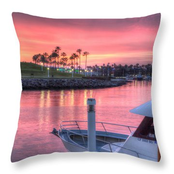 Pastel Colored Sunset Throw Pillow by Heidi Smith