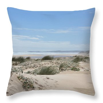 Pastel Dunes Throw Pillow by Elaine Teague