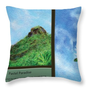 Pastel Paradise Throw Pillow by Kenneth Grzesik