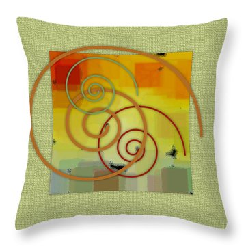 Patchwork II Throw Pillow by Ben and Raisa Gertsberg