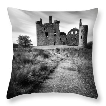 Path To Kilchurn Castle Throw Pillow by Dave Bowman