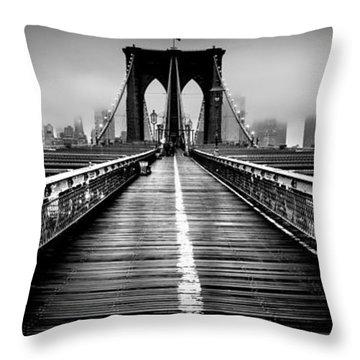 Path To The Big Apple Throw Pillow by Az Jackson