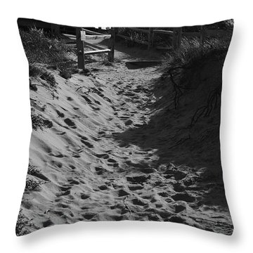Pathway Through The Dunes Throw Pillow by Luke Moore